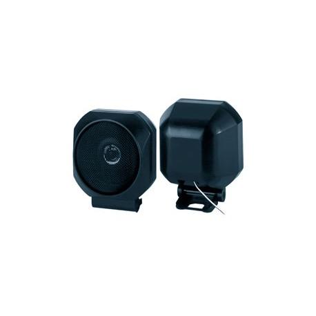 2 enceintes sphère orientable Ø 11 cm, 2 voies, 20 watts