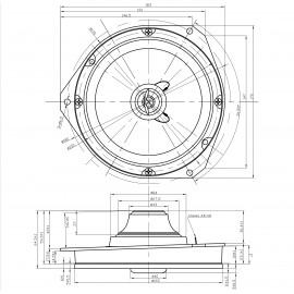 2 HP Ø16,5 cm, 2 voies, 50W RMS avec entretoises